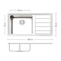 Мивка за вграждане  MEGA BB 100.1 R/L TI 1