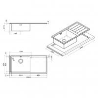 Мивка за вграждане  MEGA BB 100.1 R/L TI 2