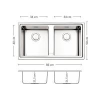 Мивка за вграждане MEGA 86.2 TI 1