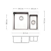 Мивка за вграждане  MEGA 61.2 FI 1
