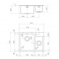 Мивка за вграждане  MEGA 61.2 FI 2