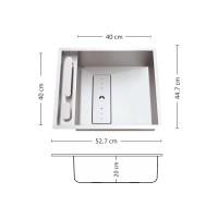 Мивка за вграждане  LEKSIA 527 FI/U 1