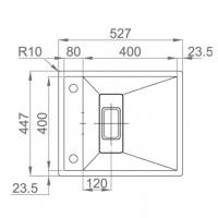 Мивка за вграждане  LEKSIA 527 FI/U 2