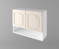 Горен кухненски шкаф с две врати и ниша Астра - Крем 1