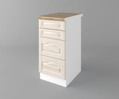 Долен кухненски шкаф с четири чекмеджета Астра - Крем 1