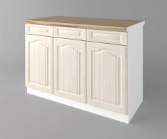 Долен кухненски шкаф с три чекмеджета и три врати а121 Астра - Крем 1