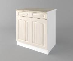 Долен кухненски шкаф с две чекмеджета и две врати  Астра - Крем 1