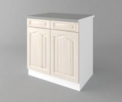 Долен кухненски шкаф с две чекмеджета и две врати  Астра - Крем 3