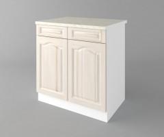 Долен кухненски шкаф с две чекмеджета и две врати  Астра - Крем 4