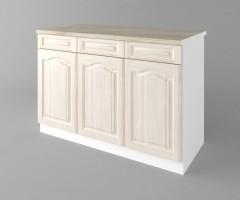 Долен кухненски шкаф с три врати и три чекмеджета а121 Астра - Крем 1