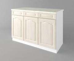Долен кухненски шкаф с три врати и три чекмеджета а121 Астра - Крем 2
