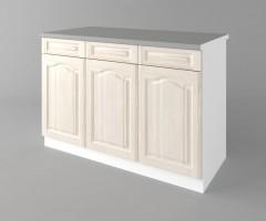 Долен кухненски шкаф с три врати и три чекмеджета а121 Астра - Крем 3