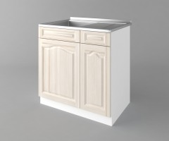 Долен кухненски шкаф с мивка с едно работещо чекмедже Астра - Крем 1