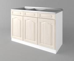 Долен кухненски шкаф с двукоритна мивка а122 Астра - Крем 1