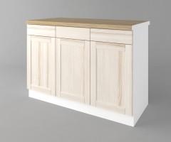 Долен кухненски шкаф с три чекмеджета и три врати а121 Калатея - Крем 1