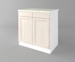 Долен кухненски шкаф с две врати и две чекмеджета Калатея - Крем 2