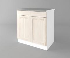 Долен кухненски шкаф с две врати и две чекмеджета Калатея - Крем 3