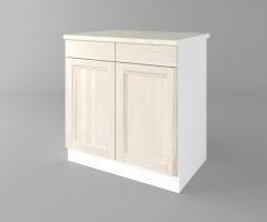 Долен кухненски шкаф с две врати и две чекмеджета Калатея - Крем 4