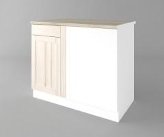 Долен кухненски шкаф за ъгъл Калатея - Крем 5