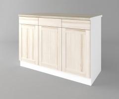 Долен кухненски шкаф с три врати и три чекмеджета а121 Калатея - Крем 1