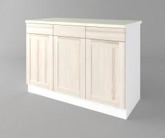 Долен кухненски шкаф с три врати и три чекмеджета а121 Калатея - Крем 2