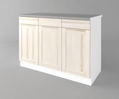 Долен кухненски шкаф с три врати и три чекмеджета а121 Калатея - Крем 3