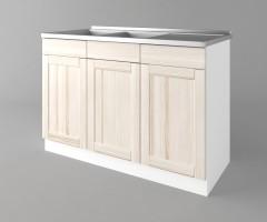 Долен кухненски шкаф с двукоритна мивка а122 Калатея - Крем 1