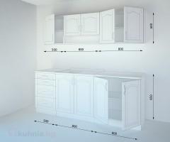 Кухненски комплект Астра Крем - L 210 cm 2