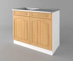 Долен кухненски шкаф с мивка - с едно работещо чекмедже   Астра - Натурална 1