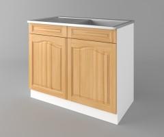 Долен кухненски шкаф с мивка - с едно работещо чекмедже   Астра - Натурална 2
