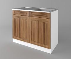 Долен кухненски шкаф с мивка - с едно работещо чекмедже Астра - Канела 2