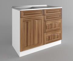 Долен кухненски шкаф с мивка - с четири работещи чекмеджета Астра - Канела 1