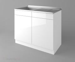 Долен кухненски шкаф с мивка - с едно работещо чекмедже Нарцис - Гланц 1