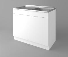 Долен кухненски шкаф с мивка - с едно работещо чекмедже Нарцис - Гланц 2