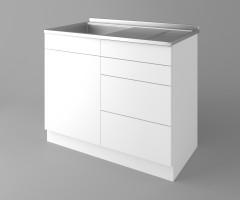 Долен кухненски шкаф с мивка - с четири работещи чекмеджета Нарцис 1