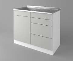 Долен кухненски шкаф с мивка - с четири работещи чекмеджета Мирта 1