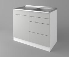 Долен кухненски шкаф с мивка - с четири работещи чекмеджета Мирта 2