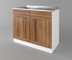 Долен кухненски шкаф с мивка - с четири работещи чекмеджета Калатея - Канела 1