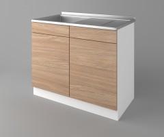Долен кухненски шкаф с мивка - с едно работещо чекмедже Поларис 1