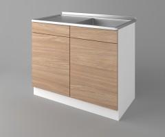 Долен кухненски шкаф с мивка - с едно работещо чекмедже Поларис 2