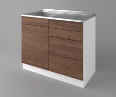 Долен кухненски шкаф с мивка - с четири работещи чекмеджета Атлас 1
