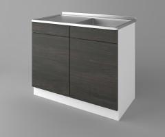 Долен кухненски шкаф с мивка - с едно работещо чекмедже Вега 2