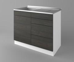 Долен кухненски шкаф с мивка - с четири работещи чекмеджета Вега 1