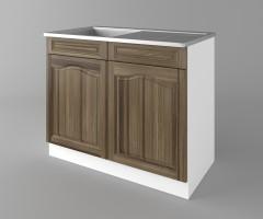Долен кухненски шкаф с мивка - с едно работещо чекмедже Астра - Ким 1