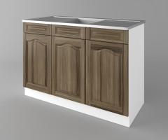 Долен кухненски шкаф с мивка - с две работещи чекмеджета Астра - Ким 1