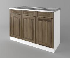 Долен кухненски шкаф с двукоритна мивка Астра - Ким 1