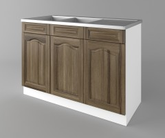 Долен кухненски шкаф с двукоритна мивка Астра - Ким 2