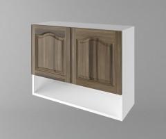 Горен кухненски шкаф с две врати и ниша Астра - Ким 1