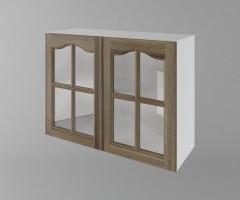 Горен кухненски шкаф с две врати за стъкло Астра - Ким 1
