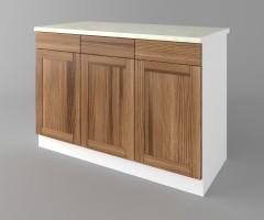 Долен кухненски шкаф с три чекмеджета и три врати Калатея - Канела 1